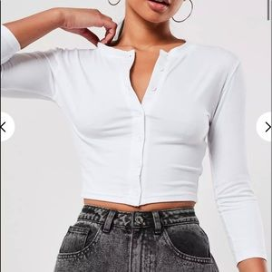 Missguided Button Crop Top